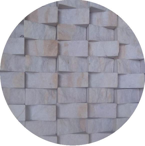 Mosaico em tela branco