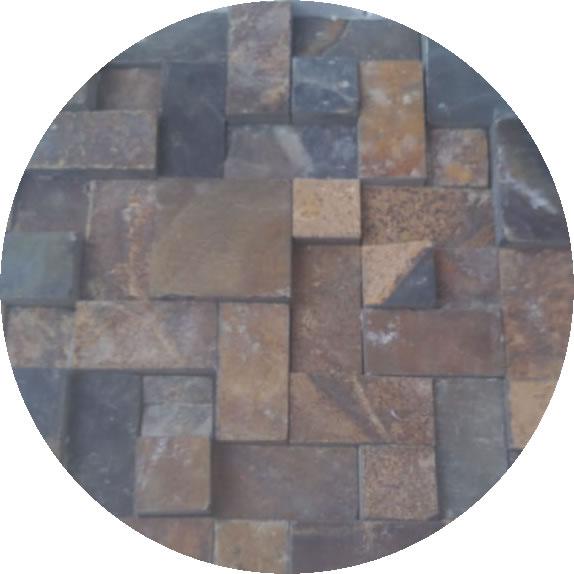Mosaico de pedra ferro